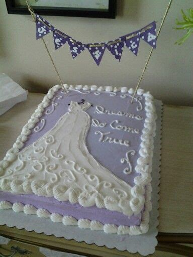 bridal shower sheet cake with a diy banner with s