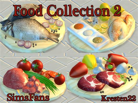 sims 4 food cc food collections 2 by kresten 22 at sims fans via sims 4