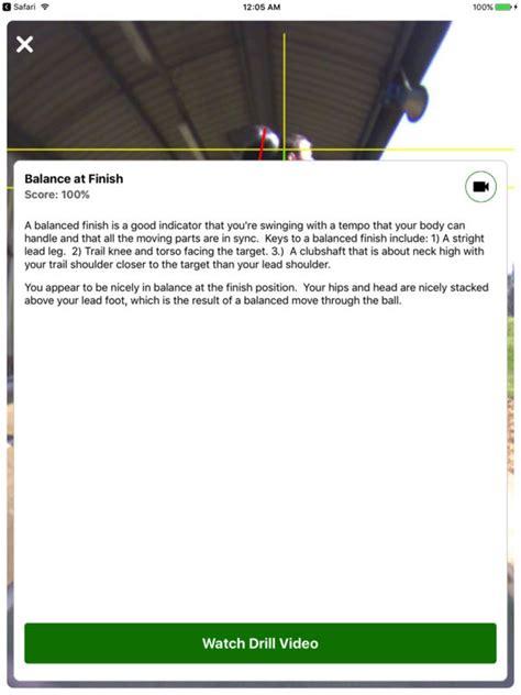 swing profile app reviews swingbot golf swing video analysis coach on the app store