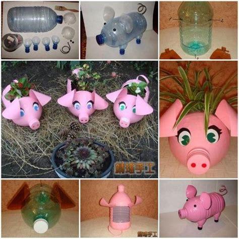 reciclado d botella descartable macetero reciclado de botellas pl 225 sticas en forma de