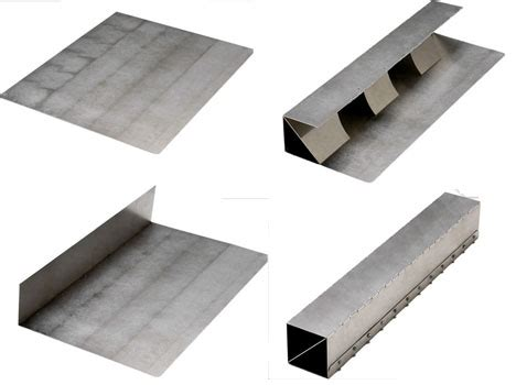 Industrial Origami - metal origami flat pack sheets form strong shapes