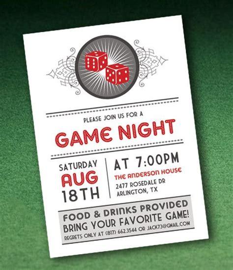 Casino Night Invitation Template With Dice Parties Parties Everywhere Pinterest Casino Casino Invitation Template Free
