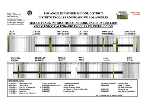 Mrs. Liberman's 3rd Grade Class: LAUSD Calendar