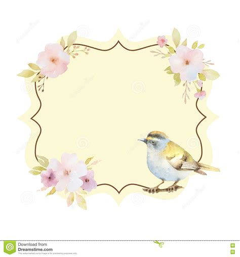 figure frame watercolor figure frame with pink flowers and a