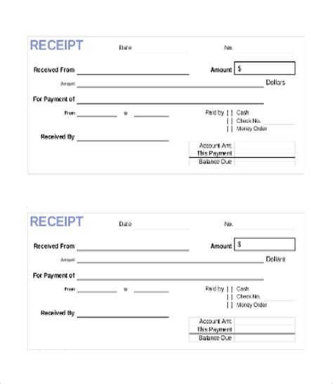 template of paid receipt paid receipt template 22 free excel pdf format