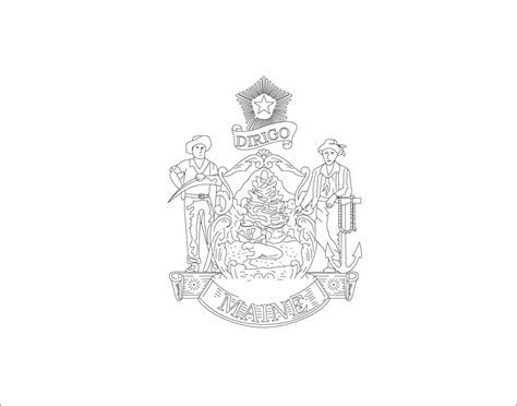 Maine A Unit Study Diyhomeschooler Maine State Flag Coloring Page
