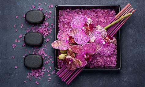 Bilder Mit Steinen Und Blumen by Bilder Orchideen Salz Blumen Steine