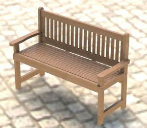 english style garden bench woodworking project plans