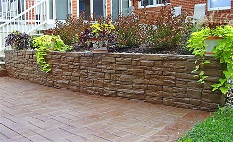 Decorative Retaining Walls by Traditional Landscape