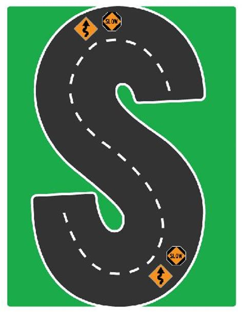 highway letters free printable 17 best images about drive the alphabet highway road