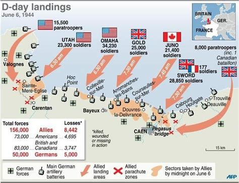 d day map d day landings map