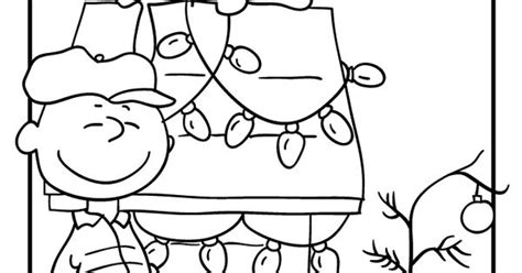 charlie brown christmas coloring pages charlie brown