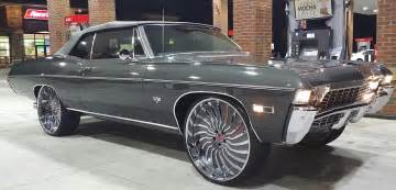 Chevrolet Impala Rims For Sale 1968 Chevy Impala Convertible On 26 Inch Forgiato Wheels