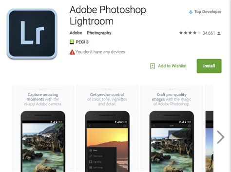 lightroom for android adobe updates lightroom for android