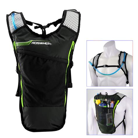 roswheel 5l bike hydration backpack with 2l water bag for