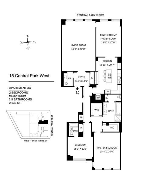 15 central park west floor plans 15 central park west upper west side manhattan scout