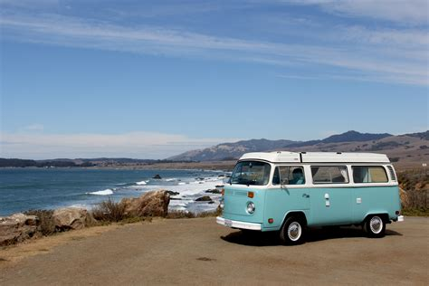 volkswagen van beach california road trip la to big sur