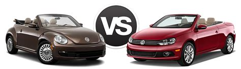 compare  vw beetle convertible  eos price specs