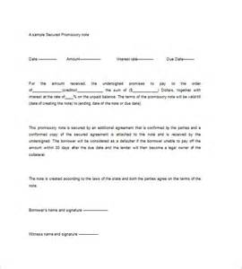 secured promissory note template secured promissory note template 8 free word excel