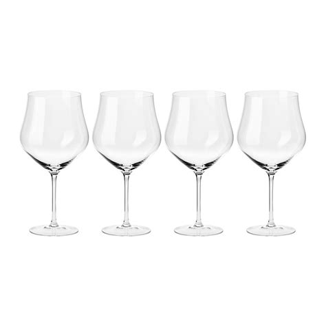 Handmade Wine Glasses - buy a by amara clarity handmade wine glass set of 4