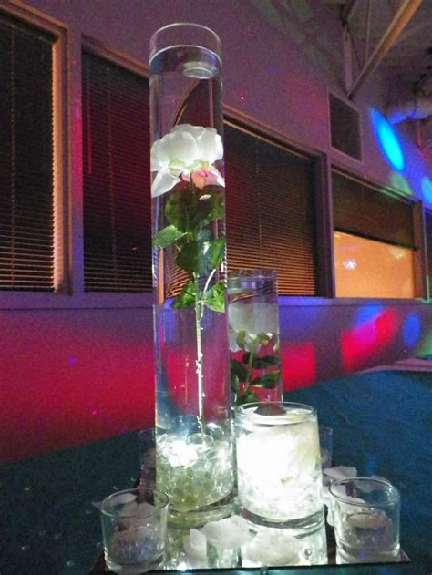 quinceanera 2013 turquoise and silver bling centerpieces