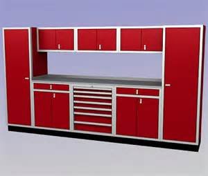 Extraordinary red aluminum garage cabinets 365186 home design