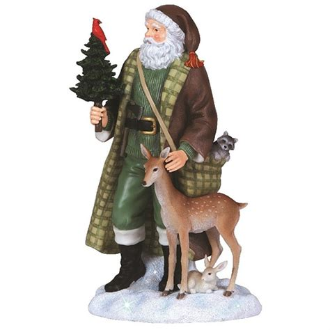 santa with woodland animals pipka by precious moments