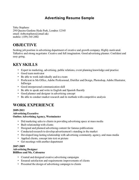 Advertising Sales Resume Examples by Advertising Sales Resume Tips