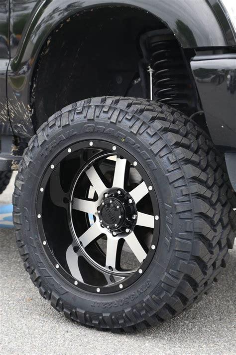 big alloy wheels lifted 2014 f250 platinum on gear alloy big blocks
