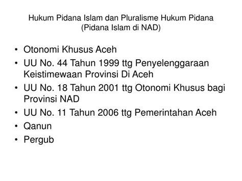 Kuhp Khusus Kompilasi Ketentuan Pidana Dalam Uu Pidana Khusus ppt pluralisme dalam hukum pidana di indonesia suatu catatan pengantar powerpoint