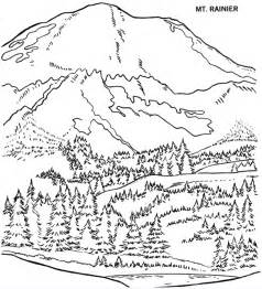mountains coloring page printable rainier mountain coloring page