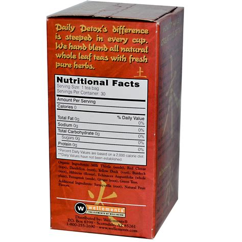 Wellements Daily Detox Tea Reviews by Wellements Daily Detox Tea Apple Cinnamon 30 Bags