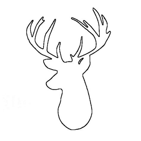 free printable reindeer head silhouette deer head outline clipart free clipart crafts