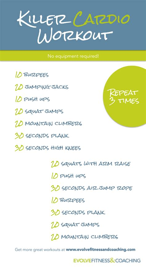 cardio workout for me and fitness