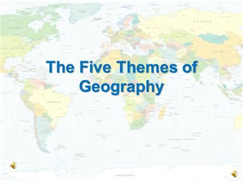 themes of geography powerpoint presentations the five themes of geography authorstream