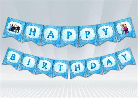 printable happy birthday banner frozen disney frozen birthday banner with personalized name