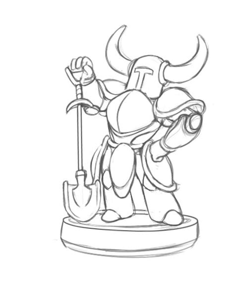 shovel knight coloring page how they make the toys for skylanders disney infinity and