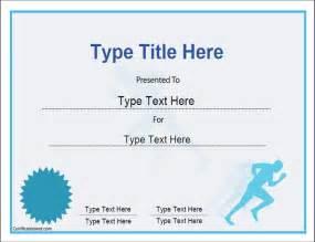 running certificate templates sports certificates certificate template for achievement