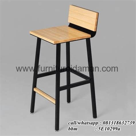 Kursi Bar Stainless kursi cafe bar stool coklat hitam kci 91 furniture