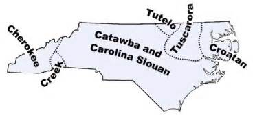 carolina indian tribes map us southern american indians the catawba s of
