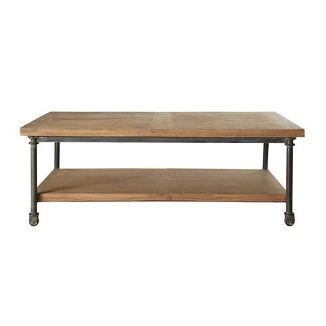 Decorations For Home by Table Basse 224 Roulettes En Manguier Et M 233 Tal L 135 Cm