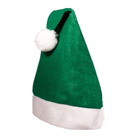 how to make a green christmas hat green felt santa hats hats products 1 00