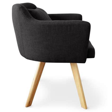 chaise a fauteuils chaise fauteuil scandinave lago tissu noir coin du design