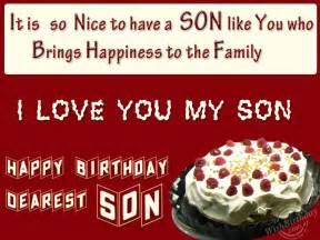 Wishing you happy birthday my loving son wishbirthday com