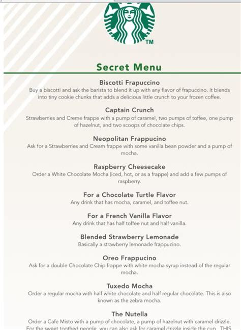 starbucks secret menu eagles media center the buzz about starbucks