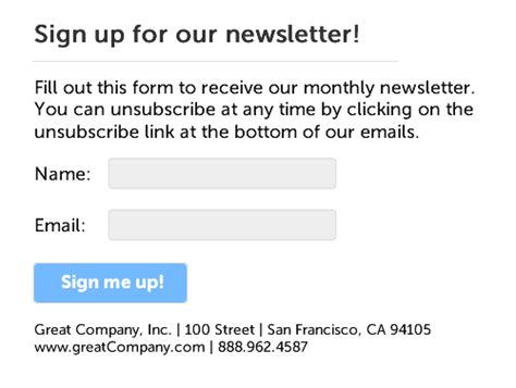 Casl Compliance How To Update Your Email Signup Forms Email Consent Template