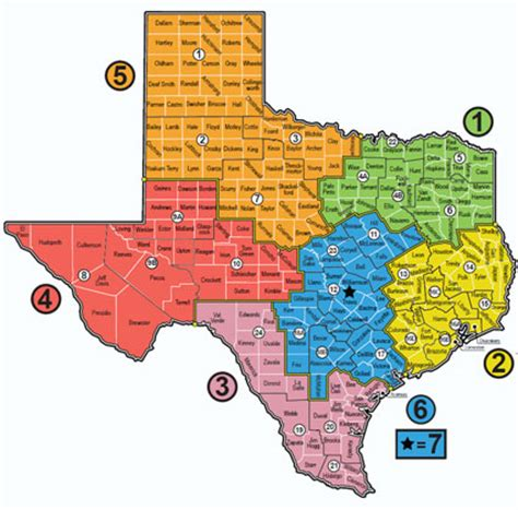 texas school region map txdps district coordinators map