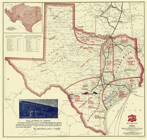 map of texas showing state maps texas farming tx by allison richey co 1870