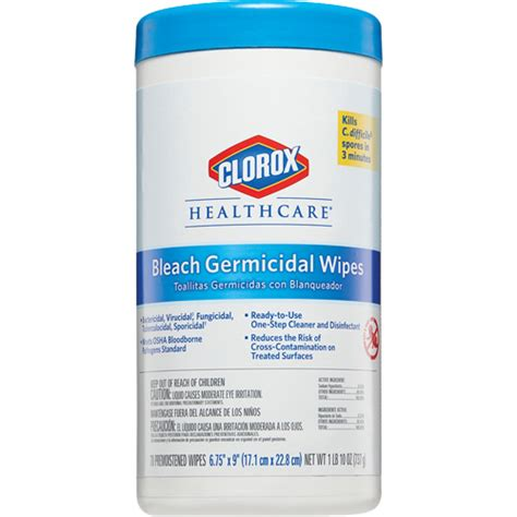 clorox healthcare professional disinfecting bleach wipes ontario packaging