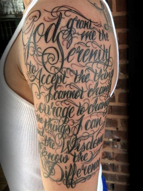 serenity prayer tattoo half sleeve tattoo design fav